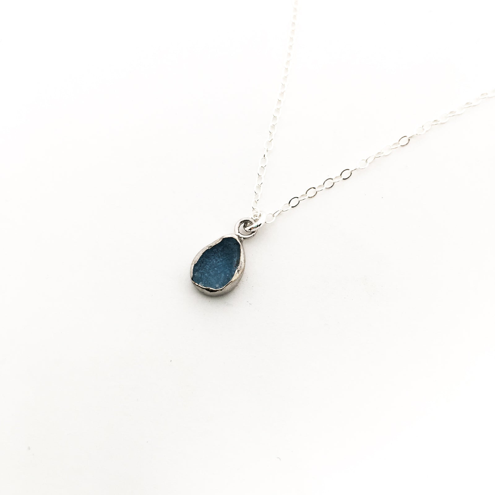 DOUBLE SIDED MINI DRUZY STONE NECKLACES | STERLING SILVER | COLOR OPTIONS