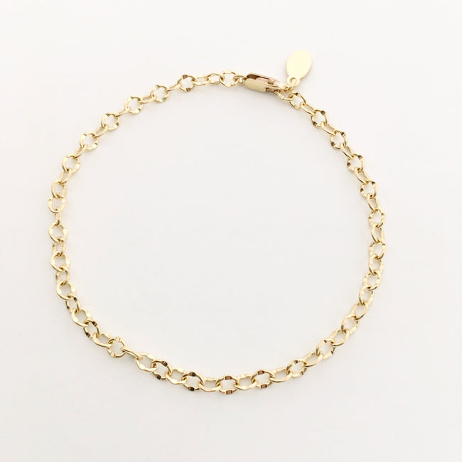14K GOLD-FILLED OPEN CHAIN BRACELET
