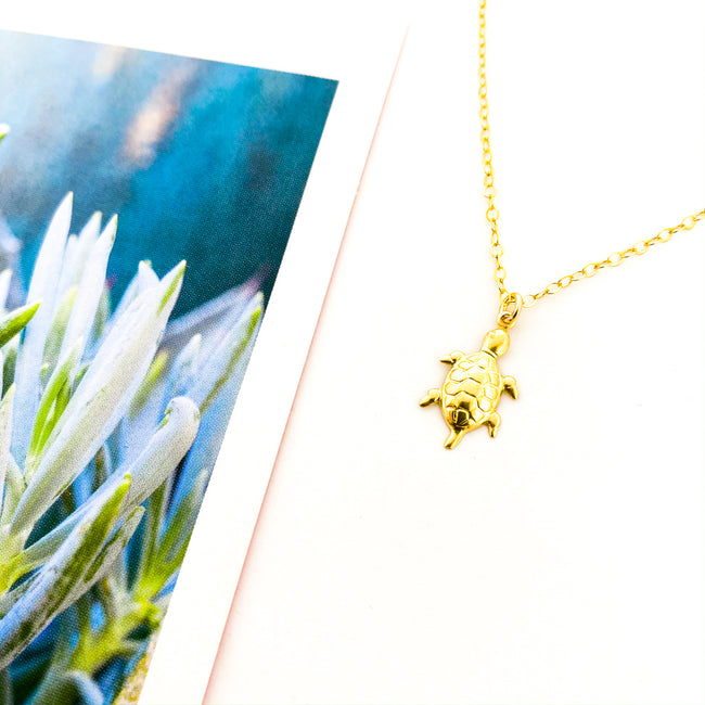 SEA TURTLE NECKLACE | 14K GOLD-FILLED