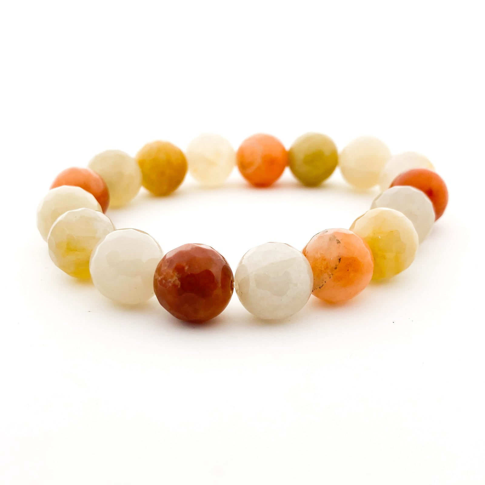 COLORFUL FACETED AGATE STONE BRACELETS | 14MM | STYLE OPTIONS