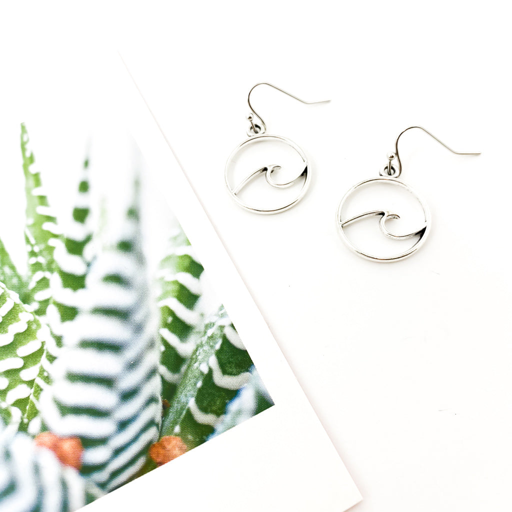 WAVE EARRINGS | LARGE | SILVER