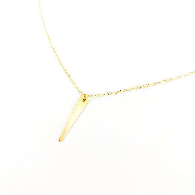 14K GOLD-FILLED DAGGER NECKLACE
