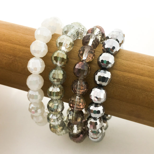 KIDS CRYSTAL BRACELETS | 8MM | DARK COLOR OPTIONS