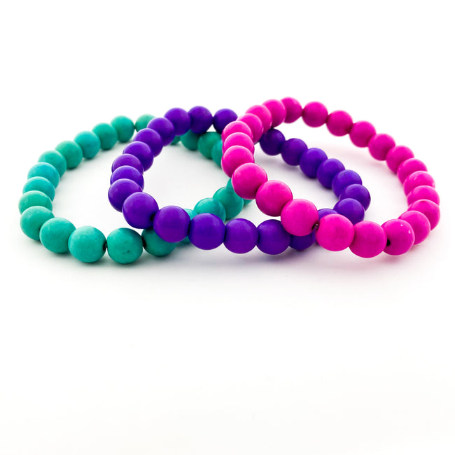 KIDS BRIGHT HOWLITE STONE BRACELETS | 8MM | STYLE OPTIONS