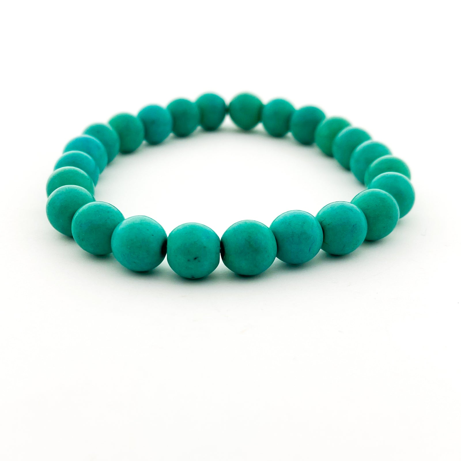 BRIGHT HOWLITE STONE BRACELETS | 8MM | STYLE OPTIONS