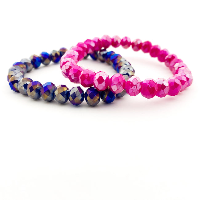 KIDS BRIGHT SPARKLE CRYSTAL BRACELETS | 8MM | STYLE OPTIONS