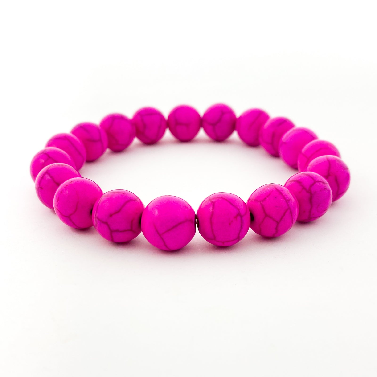 BRIGHT HOWLITE STONE BRACELETS | 10MM | STYLE OPTIONS