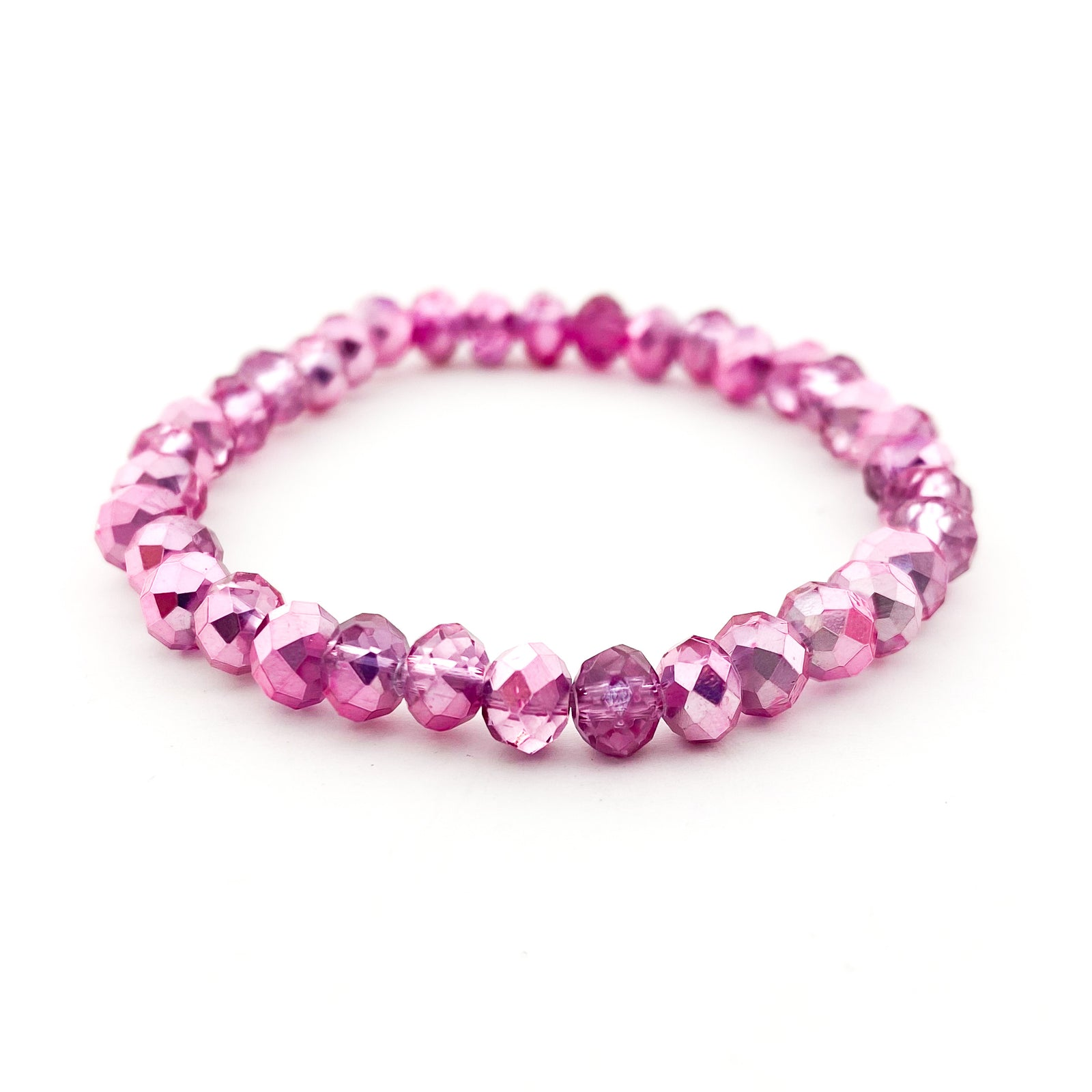 KIDS BRIGHT COLORFUL SPARKLE CRYSTAL BRACELETS | 6MM | STYLE OPTIONS