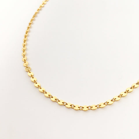 TRIPLE HOOP CHAIN NECKLACE | STERLING SILVER