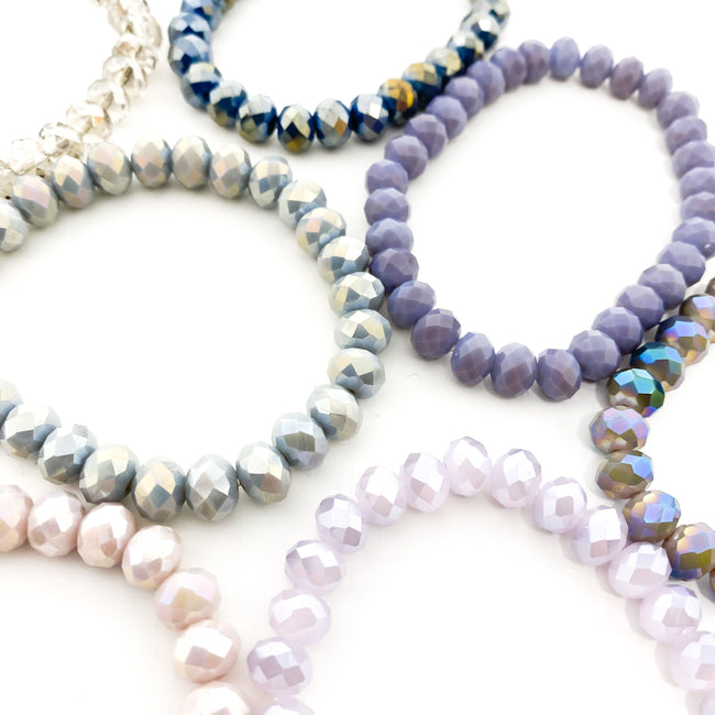 CRYSTAL BRACELETS | 8MM | PURPLES COLLECTION