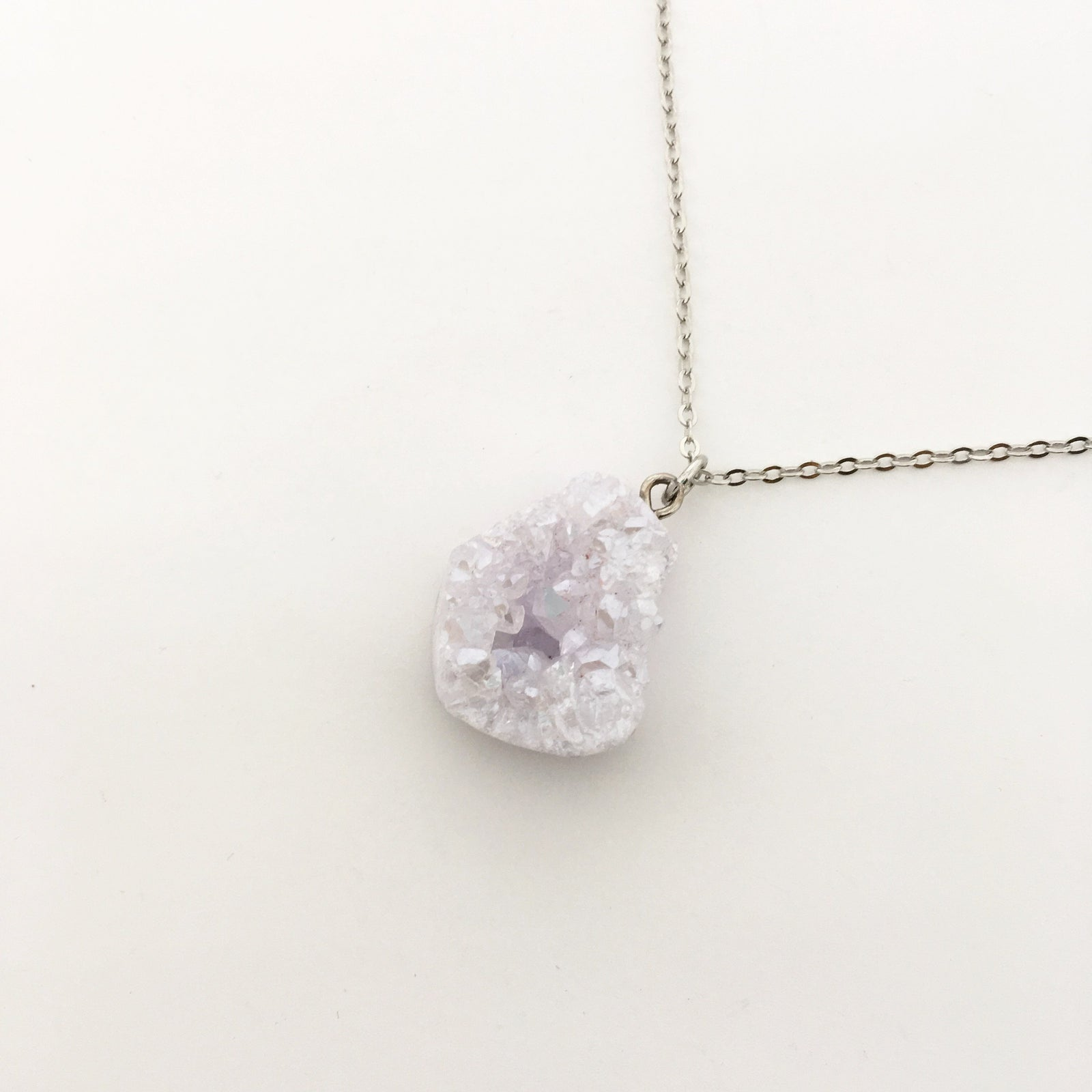 DRUZY NUGGET NECKLACES | SILVER | 18""