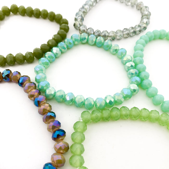 CRYSTAL BRACELETS | 8MM | GREENS COLLECTION