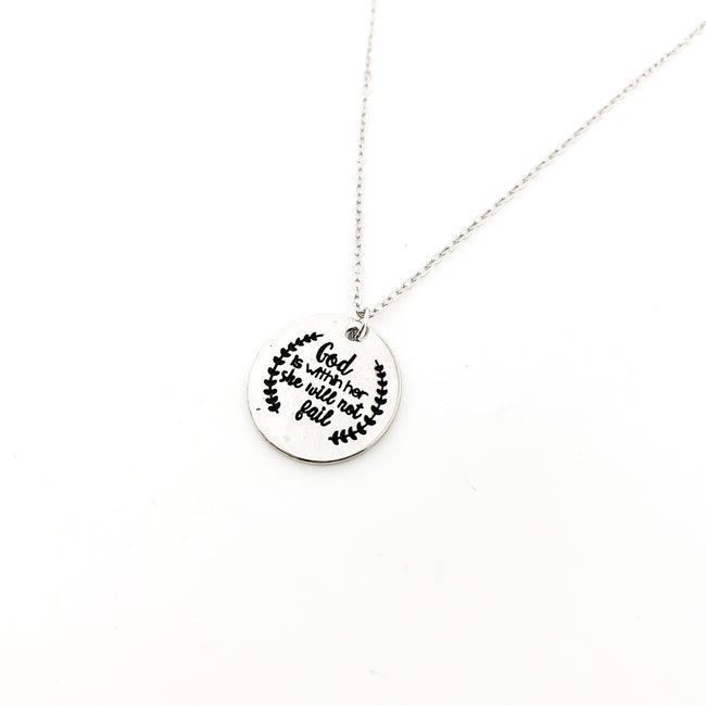 GOD IS WITHIN HER NECKLACE | SILVER