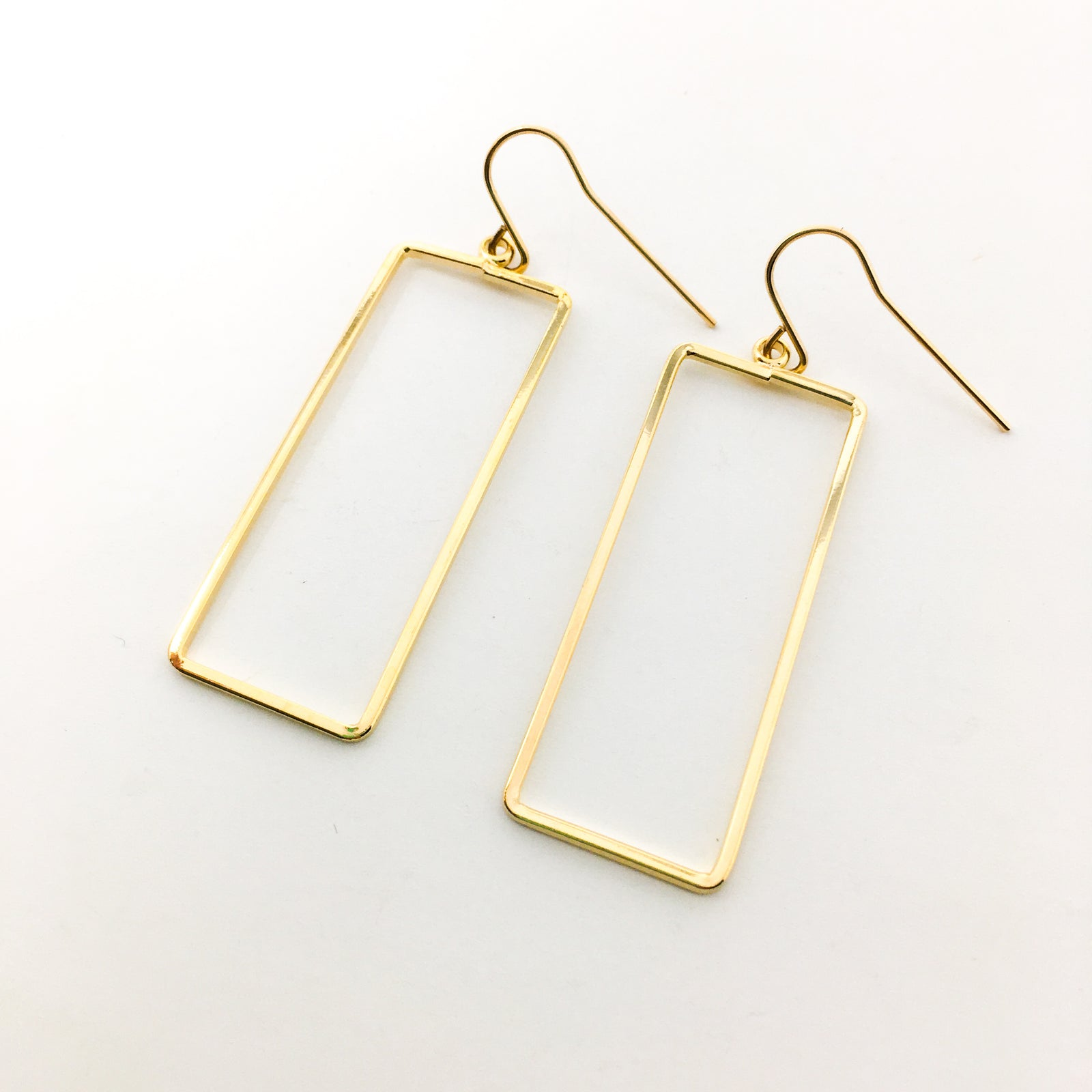 14K GOLD-FILLED RECTANGLE EARRINGS