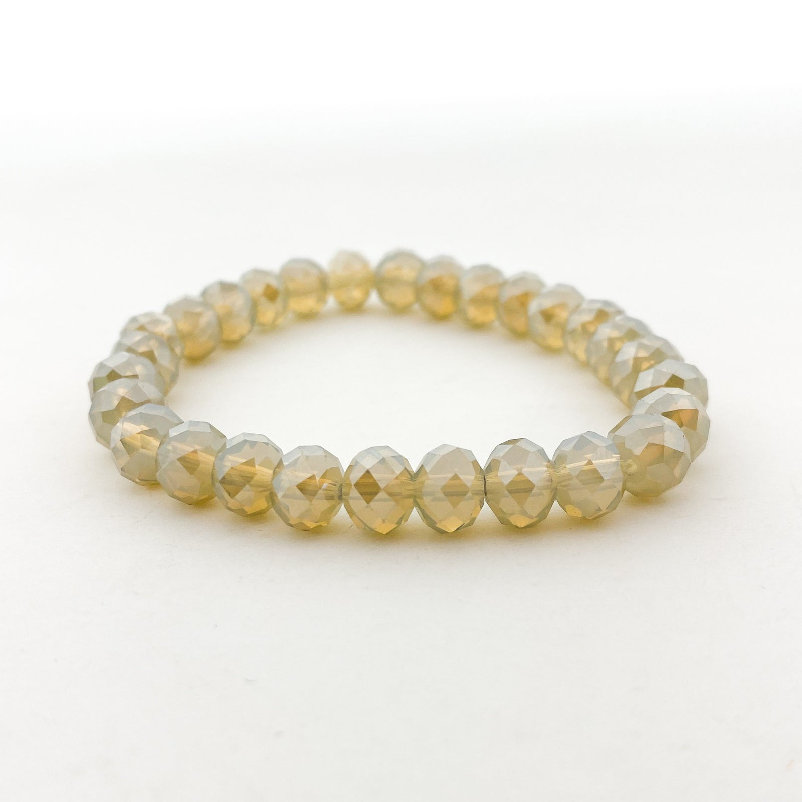 CRYSTAL BRACELETS | 8MM | CHAMPAGNES COLLECTION
