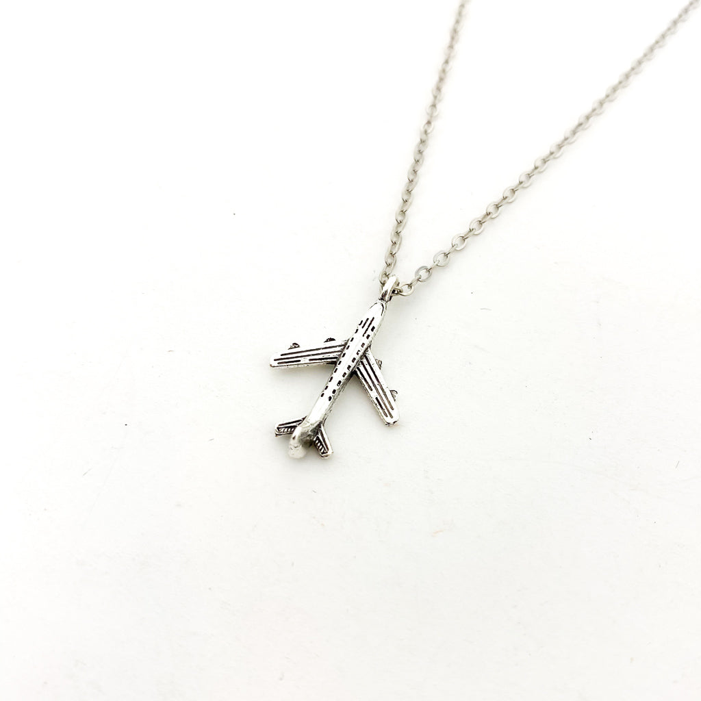 AIRPLANE NECKLACE | BRONZE