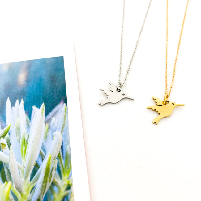 MINI HUMMINGBIRD NECKLACES | STYLE OPTIONS