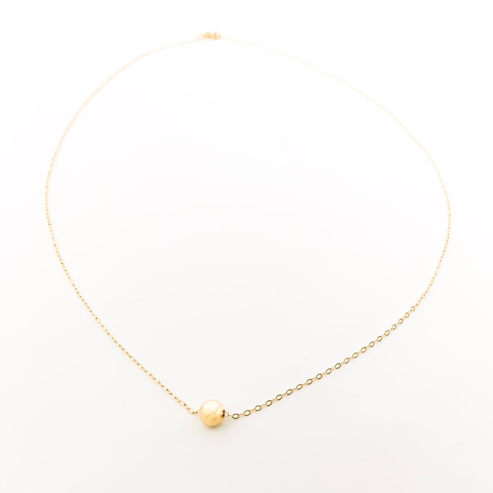 14K GOLD-FILLED SMOOTH HELD NECKLACE