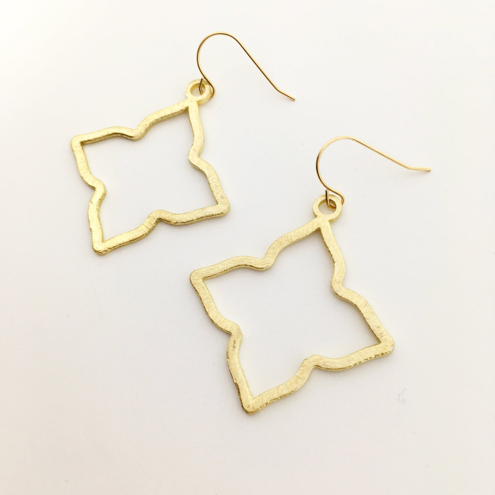BRUSHED STAR EARRINGS | GOLD