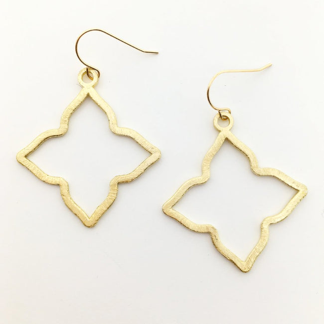 BRUSHED STAR EARRINGS | 14K GOLD-FILLED