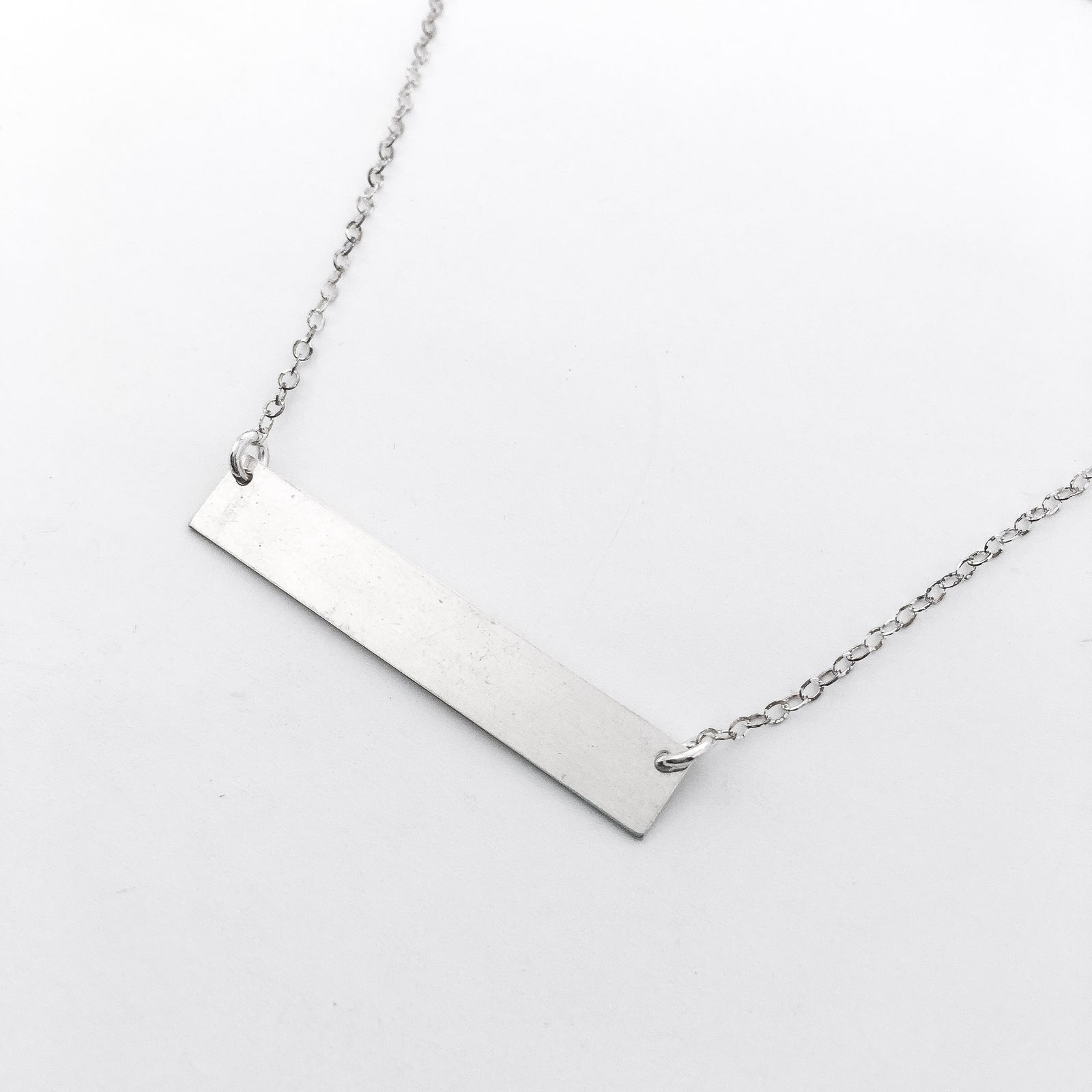 STERLING SILVER BAR NECKLACE | SIZE OPTIONS