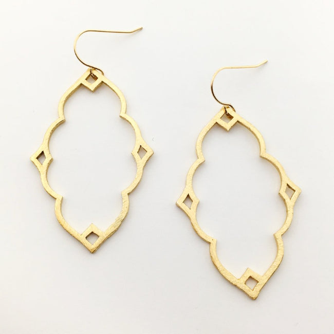 BRUSHED INDIAN EARRINGS | GOLD
