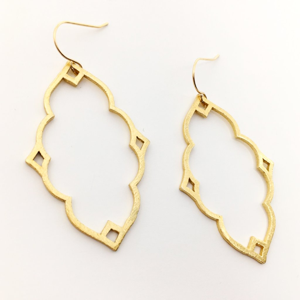 BRUSHED INDIAN EARRINGS | 14K GOLD-FILLED