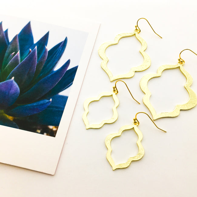 OGEE EARRINGS | GOLD | SIZE OPTIONS