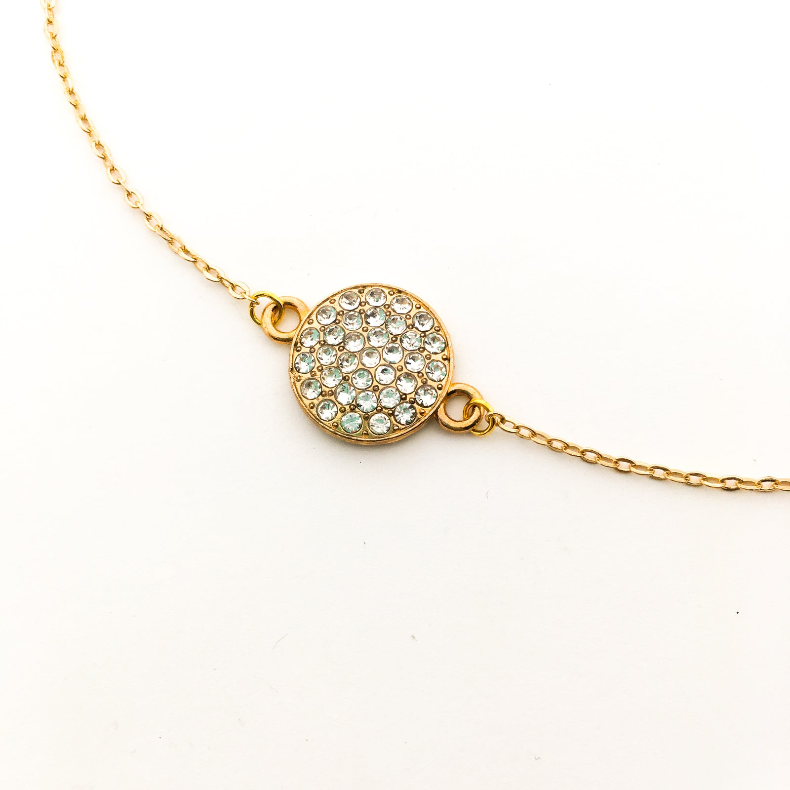 STUDDED WIDE SPHERE NECKLACE | GOLD