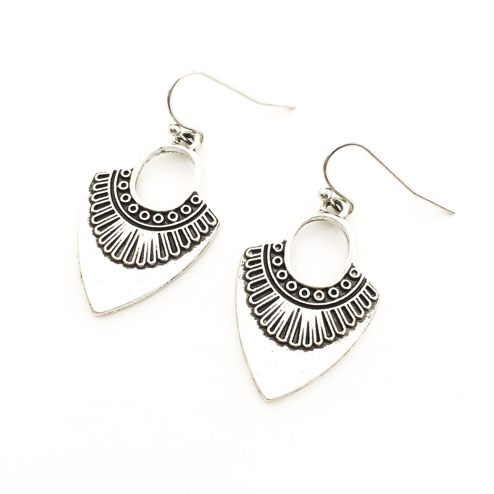 BOHO CHIC SILVER EARRINGS