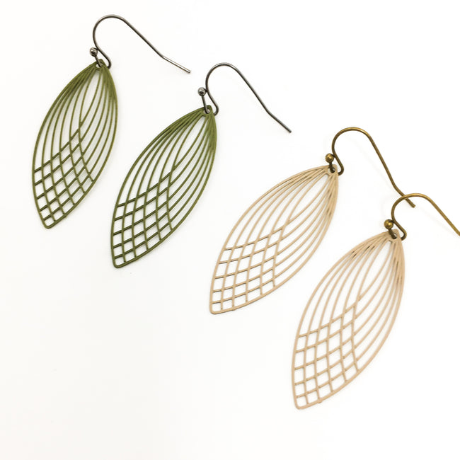 MARQUISE LINED FILIGREE EARRINGS | COLOR OPTIONS