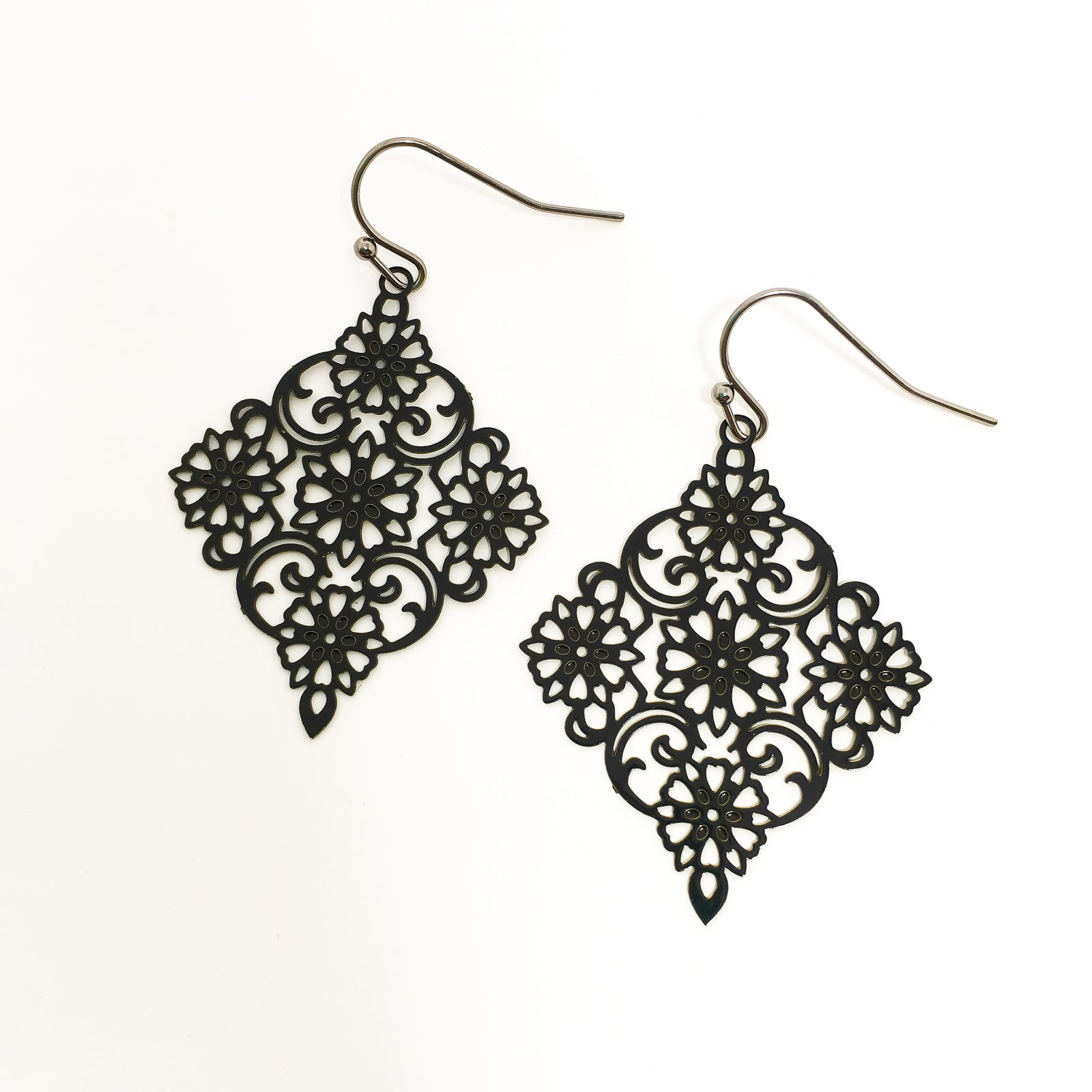 FILIGREE DIAMOND EARRINGS | COLOR OPTIONS
