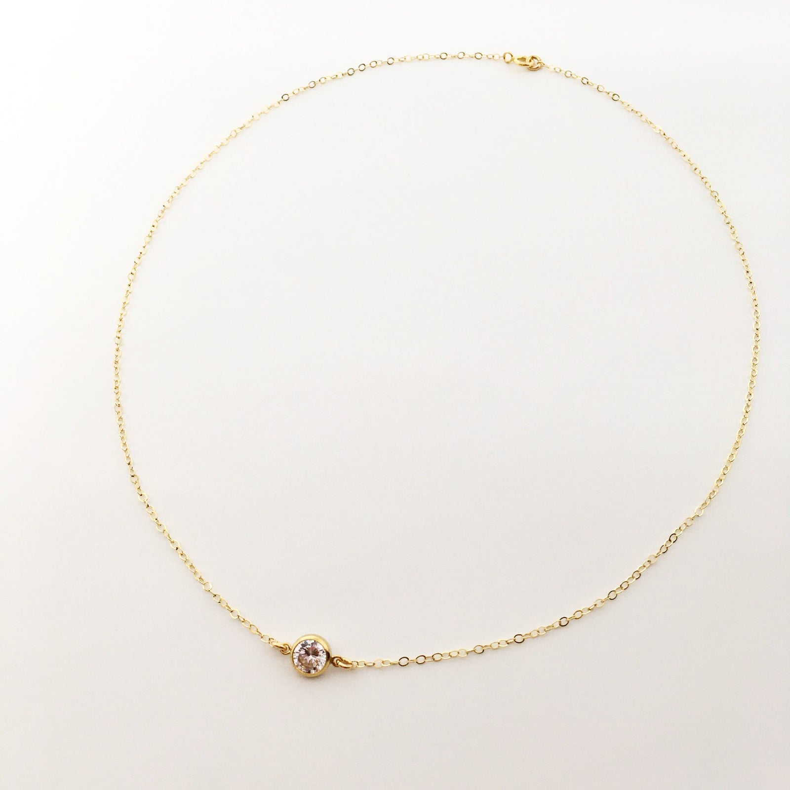 RHINESTONE 14K GOLD-FILLED NECKLACES | MED & SM