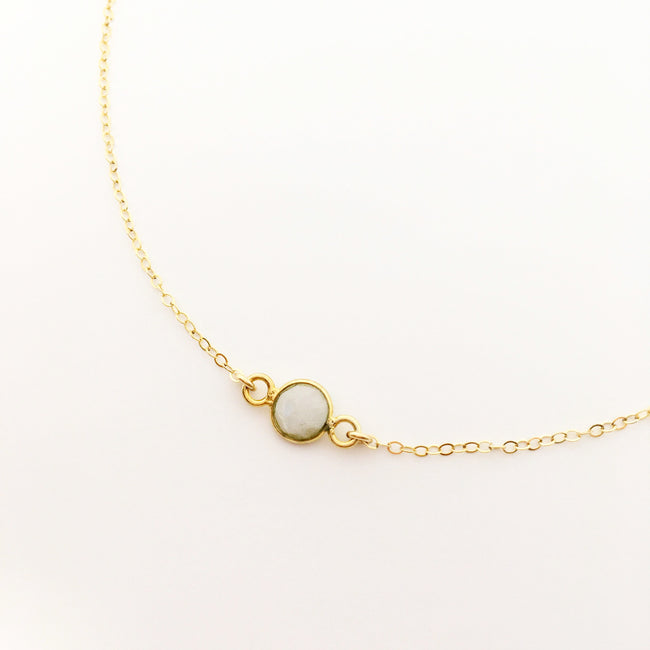 14K GOLD-FILLED MOONSTONE NECKLACE