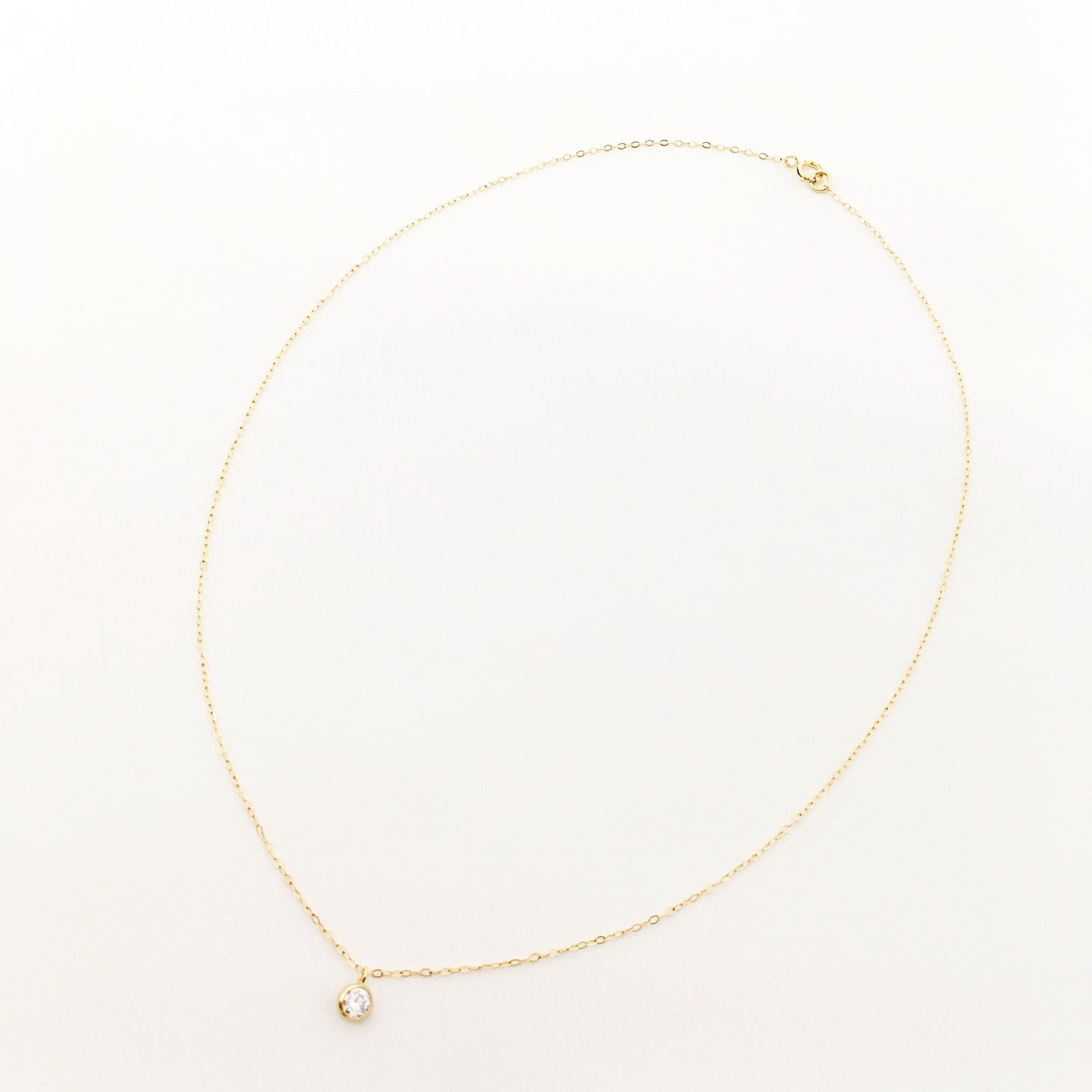 GUIDING LIGHT RHINESTONE NECKLACE | 14K GOLD-FILLED
