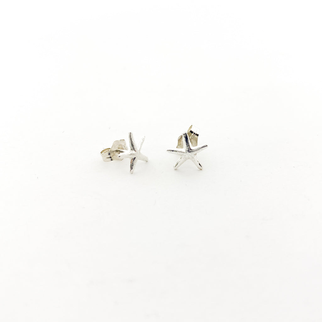 SMALL STARFISH STUD EARRINGS | STERLING SILVER
