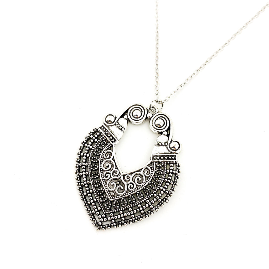 CLEOPATRA SPIRAL NECKLACE | SILVER