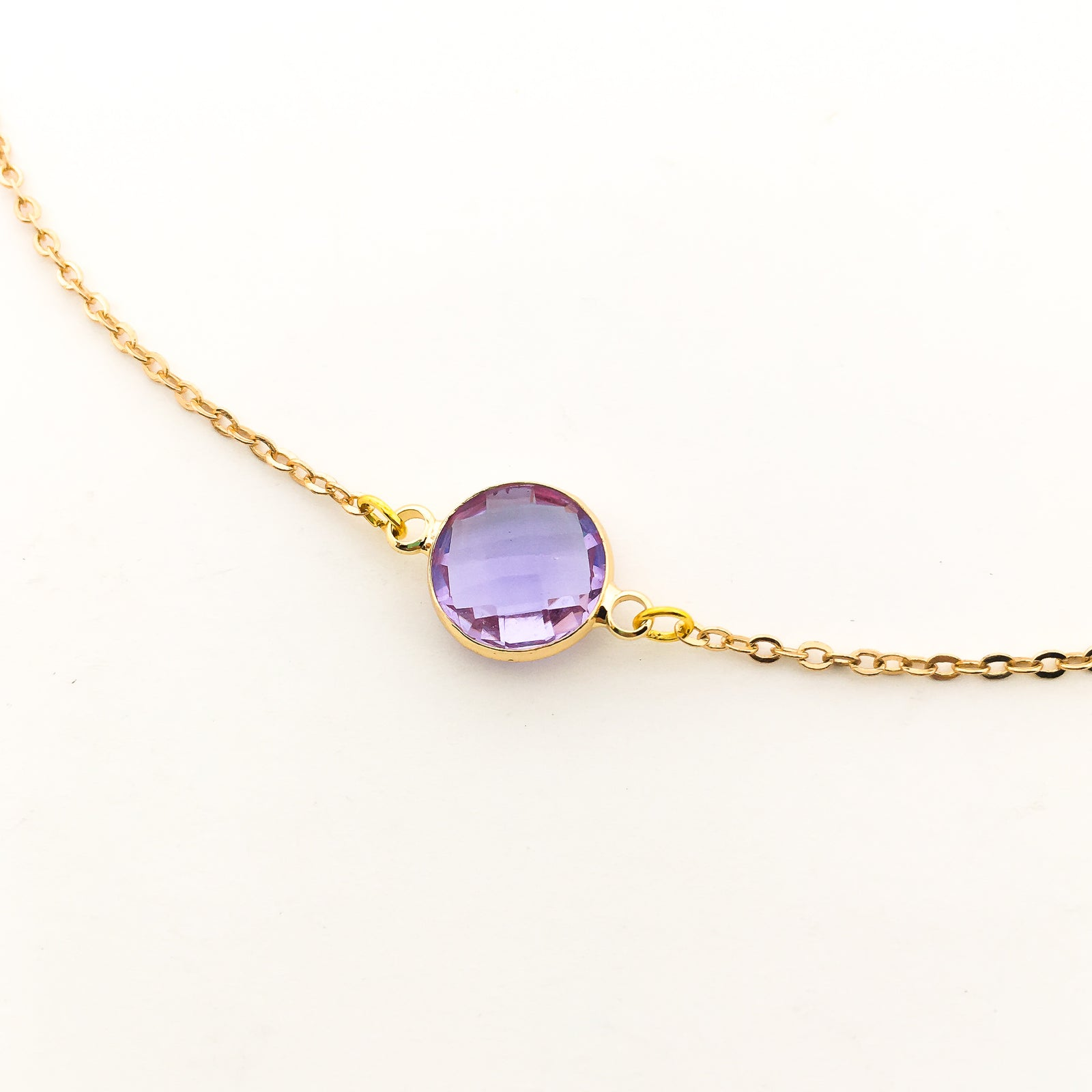 BIRTHSTONE HELD NECKLACES | GOLD | COLOR OPTIONS