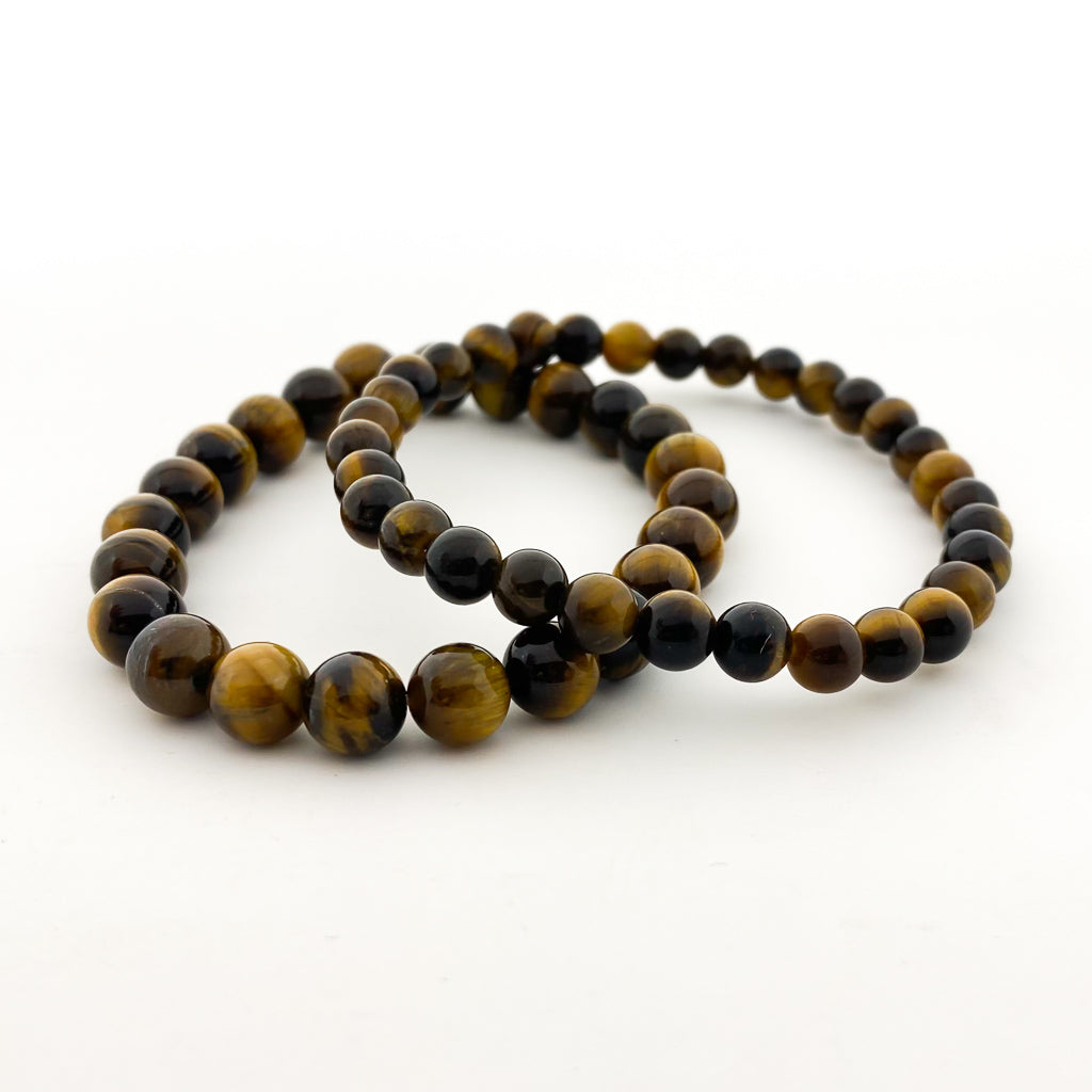 MENS TIGERS EYE BRACELETS | SIZE OPTIONS