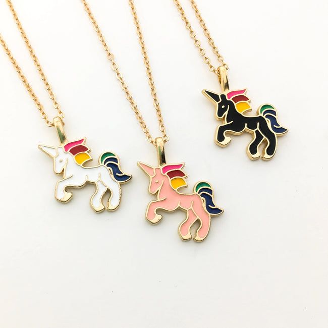 UNICORN NECKLACES | GOLD | COLOR OPTIONS