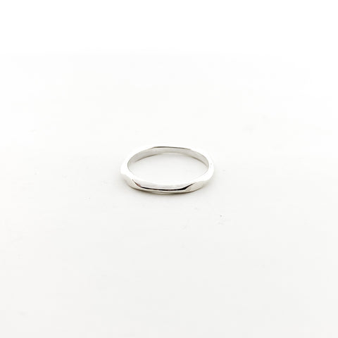 STERLING SILVER HAMMERED PATTERN STACKING RINGS | SIZE OPTIONS