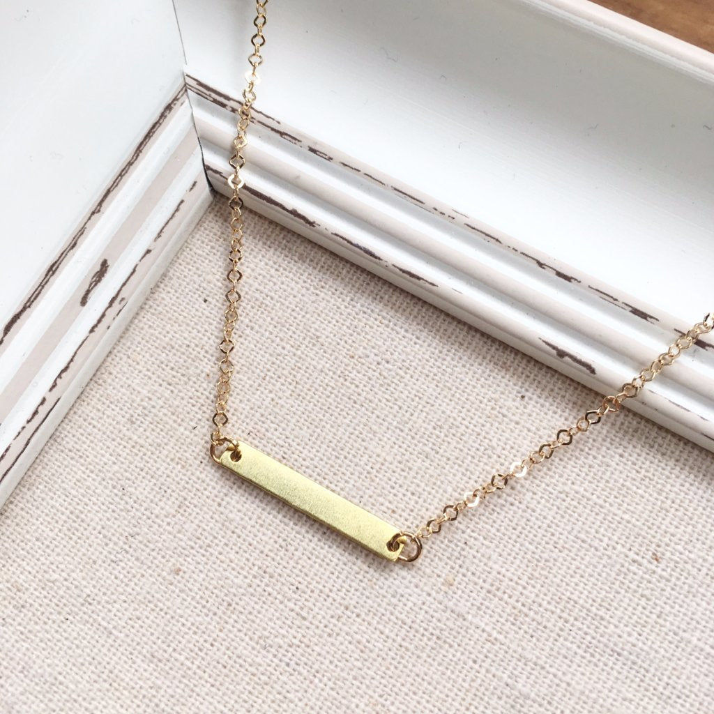 FH MINI GOLD BAR NECKLACE