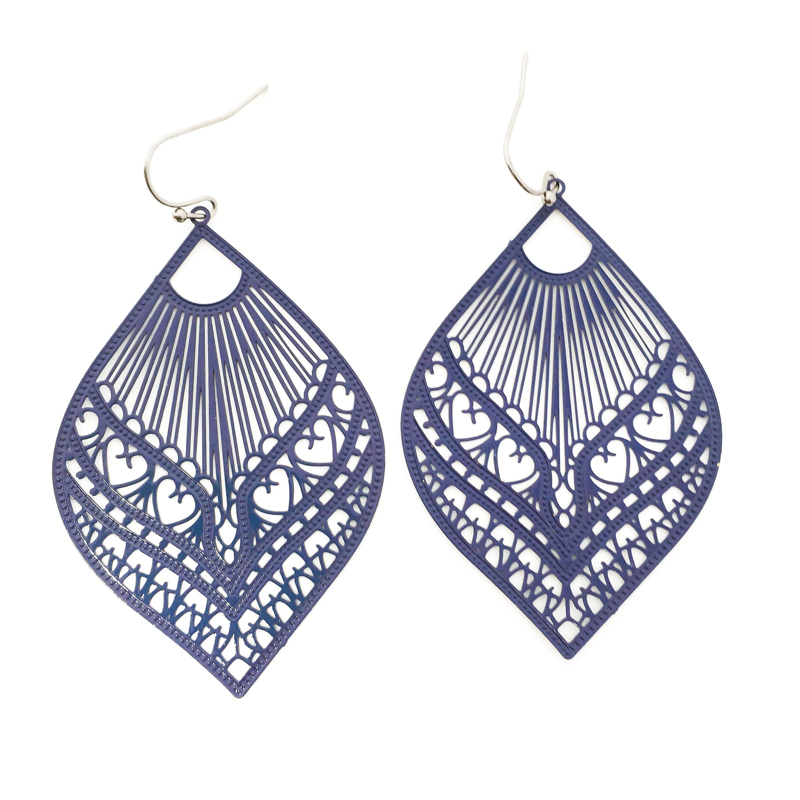 FEATHERED DROP FILIGREE EARRINGS | BRIGHT COLOR OPTIONS