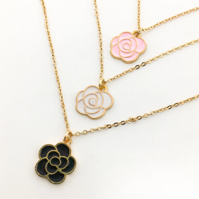 BLOOMING FLOWER NECKLACES | GOLD | COLOR OPTIONS