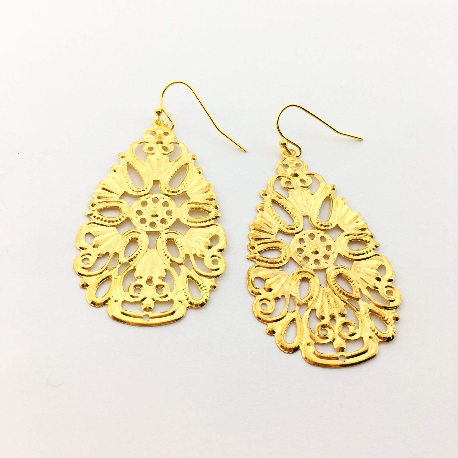 SMALL FILIGREE EARRINGS | GOLD