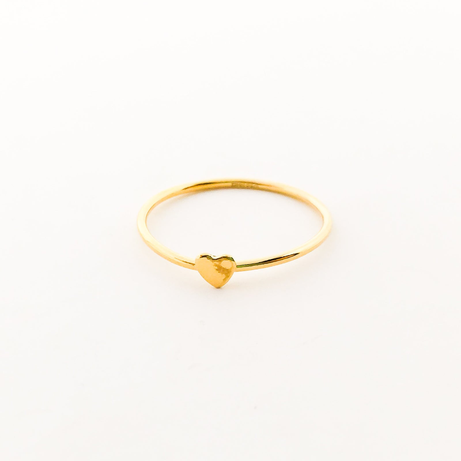 14K GOLD-FILLED HEART STACKING RINGS | SIZE OPTIONS