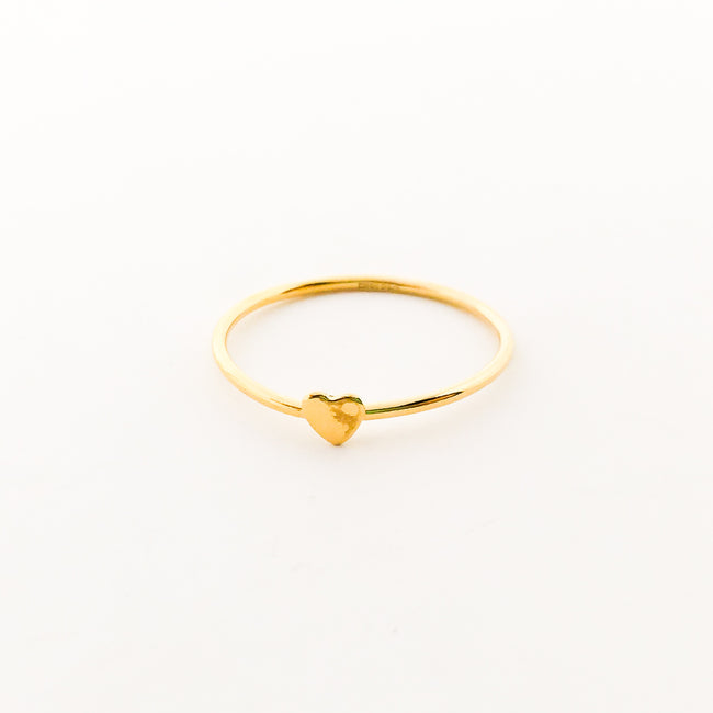 14K GOLD-FILLED HEART STACKING RING | SIZE OPTIONS