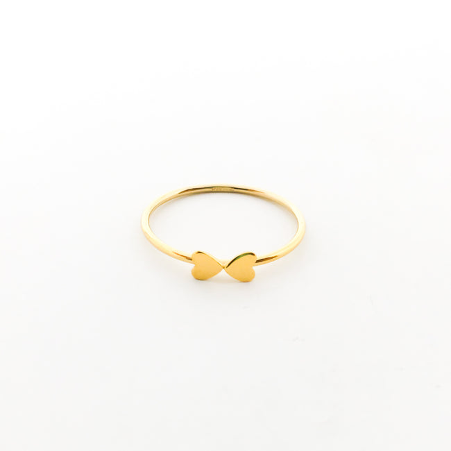 14K GOLD-FILLED DOUBLE HEART STACKING RINGS | SIZE OPTIONS