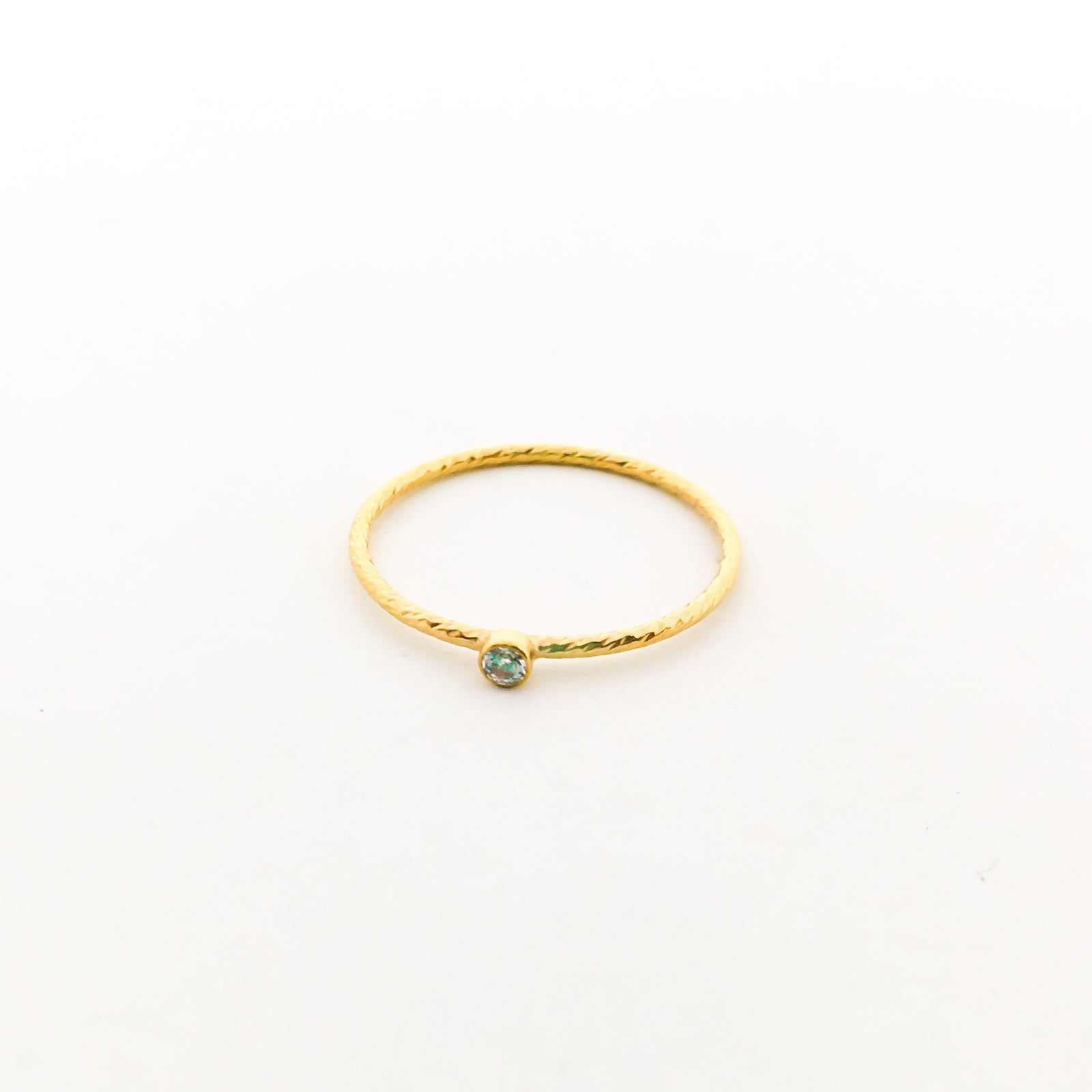 14K GOLD-FILLED TWISTED CUBIC ZIRCONIA STACKING RINGS | SIZE OPTIONS
