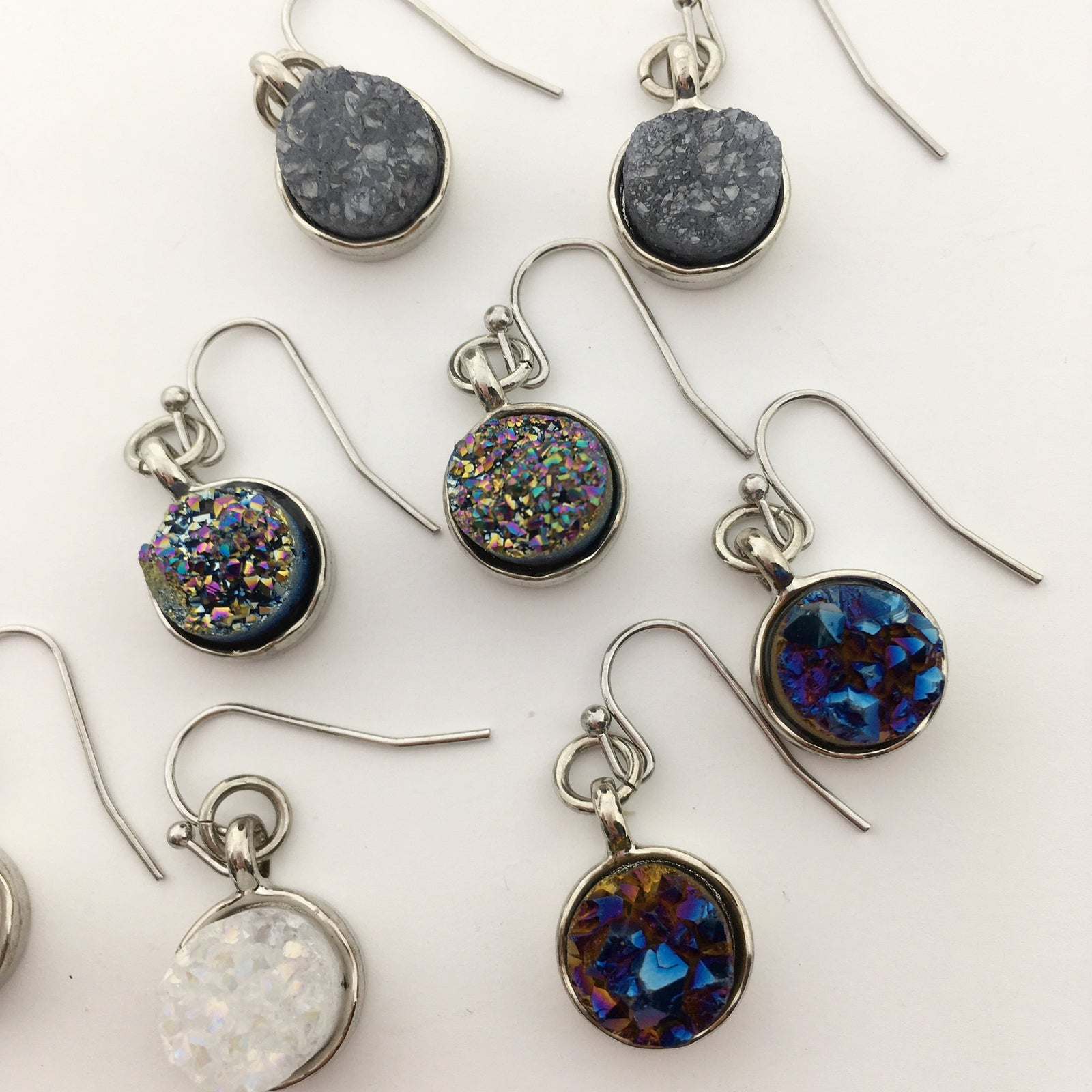 DRUZY DROPS | SILVER | COLOR OPTIONS